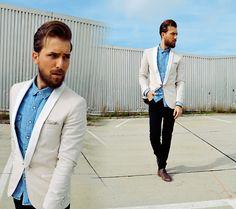 Lanvin Slim Fit Tuxedo, H&M Jeansshirt, Cheap Monday Jeans, Hbyhudson Shoes