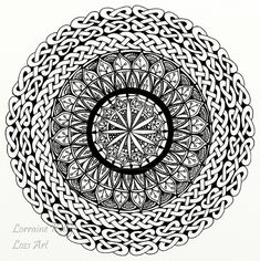 Celtic Knot Mandala - Adult Colouring Page by LorraineKelly on DeviantArt