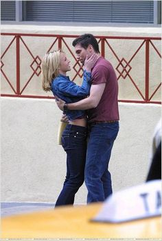 Britney Spears and Anson Mount.