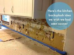 You'll wish you'd seen this sooner! This is the easiest way to install a kitchen backsplash! #backsplash #kitchendesign