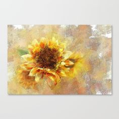 Sunflower on Fire Canvas Print