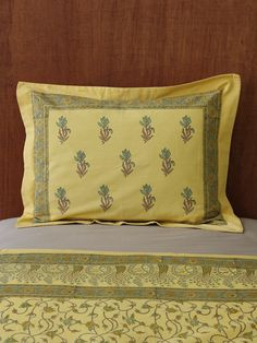Pillow Shams, Bed Pillows, Bed Sheets Online, Global Decor, Yellow Pillows, Cotton Pillow, Beach Pillow, Bed Spreads, Colorful Interiors