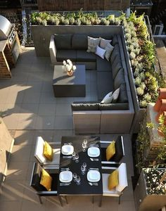 6 Rooftop Terrace Furniture & Stylish Roof Design Ideas - picture for you Roof Terrace Design, Rooftop Design, Patio Design, Garden Design, Home Design, Interior Design, Design Design, Modern Design, Grill Design