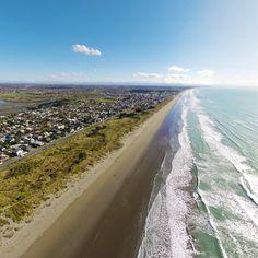 New Brighton beach New Brighton Beach, Christchurch New Zealand, Herald News, South Island, West Coast, Surfing, Homeland, City, Heaven