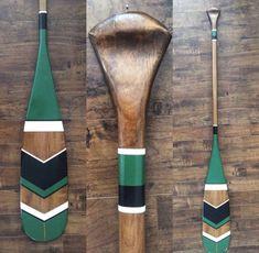 Custom painted canoe paddle, custom design painted oar, nautical home decor, painted oar, painted paddle Deco Surf, Painted Oars, Oar Decor, Canoe And Kayak, Canoe Paddles, Greek Paddles, Canoe Camping, Canoe Trip, Wooden Paddle