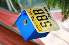 This DIY License Plate Birdhouse allows you to personal a simple birdhouse that birds will be pleased to call home, no matter what state they're in.