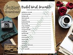 Find The Guest Game, Bridal Shower Games, Printable Bridal Shower Games, Simple Bridal Shower Games, Printable Bridal Shower Games, Wedding Shower Games, Team Groom, Team Bride, Wedding Terms, Simple Bridal Shower, Bridal Games, Printing Services, Templates