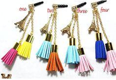 1PC Bling  Eiffel Tower   phone dust plug,iPhone dust plug,earphone plugs,phone charm cell phone charm,ear plugs,Ear Jack,iPhone charm