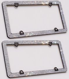 Carfond 8 Row Pure Handmade Bling Bling Aluminum Car License Plate Frame with 4 Holes Bonus Matching Screws Caps Silver 2 PACK *** See this great product.Note:It is affiliate link to Amazon.