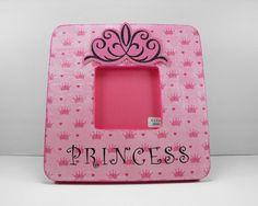 Picture Frame ~ Princess ~ by Blissmade Designs #pink #crown #tiara #diva #handmade #decor