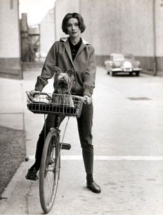 hepburn on a bike