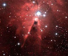 Suburban spaceman: Cone and Fox Fur Nebulas Glow Together - Image