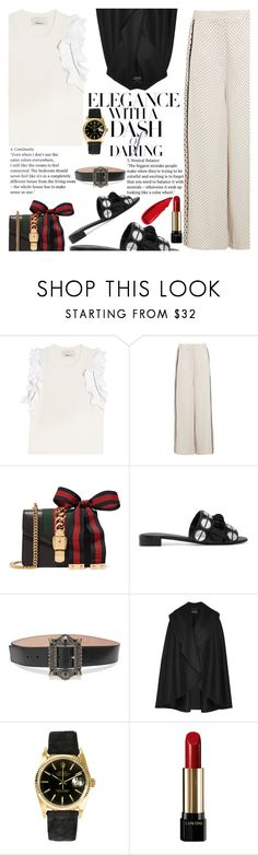 """""""Untitled #2217"""" by anarita11 ❤ liked on Polyvore featuring 3.1 Phillip Lim, Zimmermann, Gucci, Mercedes Castillo, Alexander McQueen, Burberry, Rolex, Lancôme and Sisley"""
