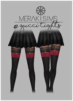 Sims 4 CC's - The Best: Gucci Tights by MerakiSims