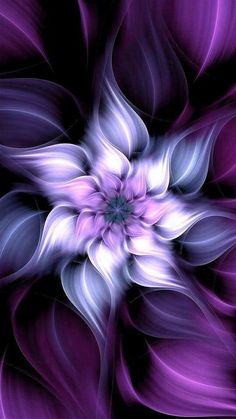 Flower Phone Wallpaper, Purple Wallpaper, Cellphone Wallpaper, Colorful Wallpaper, Free Wallpaper Backgrounds, Pretty Wallpapers, Fractal Images, Fractal Art, Bright Colors Art