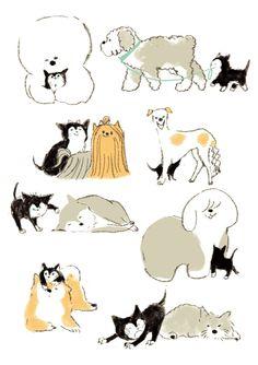 Dog And Puppies German Shepherd .Dog And Puppies German Shepherd Modern Dog Toys, Unusual Dog Breeds, Dog Breed Names, Dog Organization, Best Dog Toys, Dog Illustration, Little Dogs, Dog Art, Animal Drawings