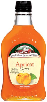 Apricot Fruit Flavored Syrup adds a flavorful touch of sweetness to your favorite foods. maplegrove.com #apricot #syrup #maplegrovefarms