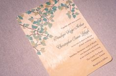 WE like the simple leaves. but leaves may not be so appropriate to the hymn we're using. (wood invitation - green blue leaves... )