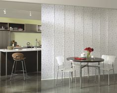 Clean lines and a simple contemporary look, sliding panels is ideal for a room divider.