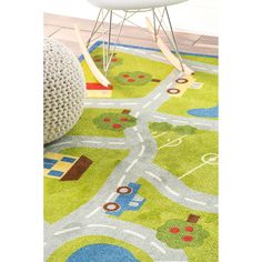 nuLOOM Contemporary Kids Country Road Trip Green Rug (5' x 8') - 18666699 - Overstock.com Shopping - Great Deals on Nuloom 5x8 - 6x9 Rugs