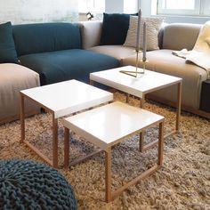 Favorit på Habitat! Kilo soffbord passar perfekt som enskilt bord eller flera tillsammans i en grupp. Finns i flera olika modeller och färger, både i Skrapan & Täby C. På bild ser ni satsboden som säljs i pack om 3st bord i olika storlekar, 1.349kr. (vitt utförande finns just nu bara i Täby C) #habitatsverige #täbycentrum #gallerianskrapan