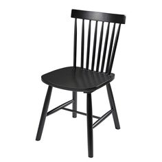 Vintage black rubber wood chair