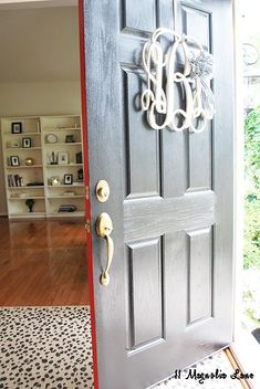 Turquoise Front Door Modern Masters Non Fade Paint In I Use Two Diffe Colors