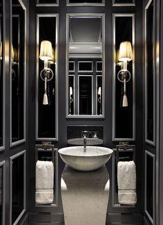 Black and grey bathroom.