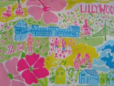 Lilly Pulitzer fabric Lillywood by fabriclillystyle on Etsy