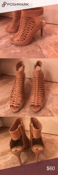 Gianni Bini heels Tan/cream Giani Bini, size 7 shoes. In very good condition. They have been worn often, but they still look almost new. Gianni Bini Shoes Heels