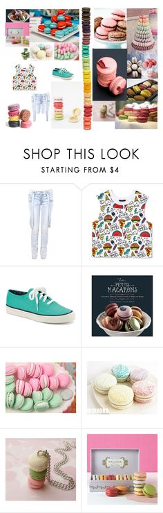 """""""I am ready to make macaroons!"""" by glee2shake ❤ liked on Polyvore featuring Ladurée, Forever 21 and Sperry"""