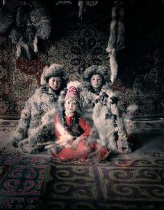 BEFORE THEY PASS AWAY Kazakh children, Mongolia
