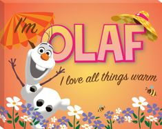 Disney Frozen - Olaf Love All Things Summer Canvas Stretched Canvas Print at AllPosters.com
