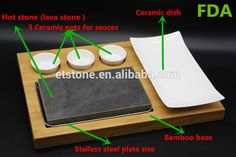Hot Cooking Stone Griddle, BBQ Steak Black Rock, Grill Granite Lava steak sets, How To Cook Broccoli, How To Cook Ham, Cooking Broccoli, How To Cook Barley, Bbq Steak, Griddle Grill, Cooking Stone, Menu Printing, Woodworking