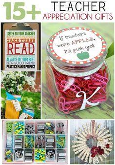 15+ Teacher Appreciation Gift Ideas on { lilluna.com } Lots of great ideas for those great teachers!