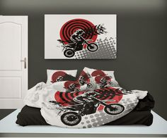 Kids Bedroom Sets On Motocross Bed Sheets Dirt Bike