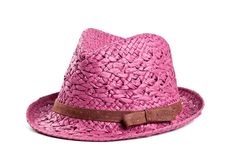Fedora hat  Sun hat  Magenta custom hat  Raffia by LeopardValley, $36.00