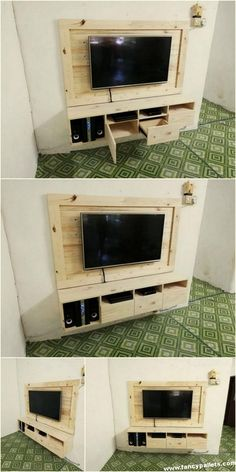 Old Pallets Fancy Pallets TV Console