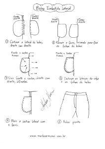 molde, corte e costura - Marlene Mukai : Como colocar bolso em Calça