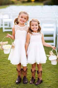 flower girl dresses cowgirl boots! a cute wedding trend in 2014