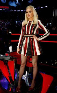 Red, White & Black from Gwen Stefani's The Voice Looks  InZuhair Murad.