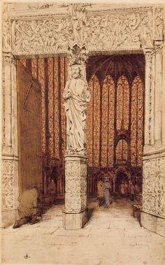 La Sainte Chapelle (1911) by TF Simon.