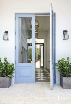 Miami Home's Entrance Boasts a Custom Paint Color