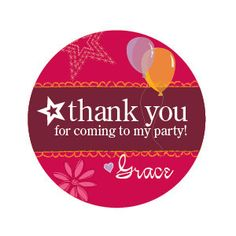 American Girl Birthday party thank you tag by DenimGraphics, $5.00