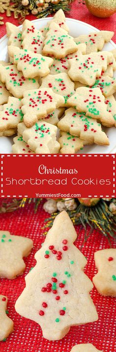 Christmas Shortbread Cookies - adorable, delicious, tasty and with only three ingredients! You need to add this lovely Christmas Shortbread Cookies to your Christmas!(Baking Cookies With Kids) Holiday Cookies, Holiday Desserts, Holiday Baking, Holiday Treats, Holiday Recipes, Christmas Recipes, Thanksgiving Sides, Holiday Appetizers, Thanksgiving Desserts