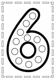 Pon Pon Yapıştırarak Sayıları Öğrenme Preschool Writing, Numbers Preschool, Preschool Learning Activities, Learning Numbers, Toddler Learning, Math Sheets, Do A Dot, Kids Math Worksheets, Writing Numbers