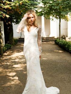 LINDEGGER Küss die Braut, Brautkleid Chloe 2014, schmal fließendes Stretchkleid im Boho-chic.