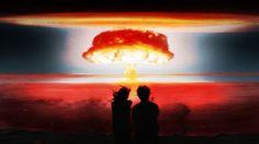 1920x1080 Nuclear Blast Bomb Explosion Anime Drawing Mushroom Cloud Nuclear HD Wallpaper