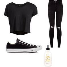That one day... by cydn on Polyvore featuring polyvore fashion style Pieces Converse