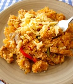 Fried Rice, Fries, Meat, Ethnic Recipes, Food, Bulgur, Essen, Meals, Nasi Goreng